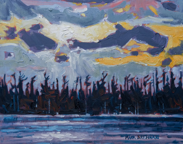 Evening Shoreline Melopsesketch Lake, Nova Scotia by Mark Brennan