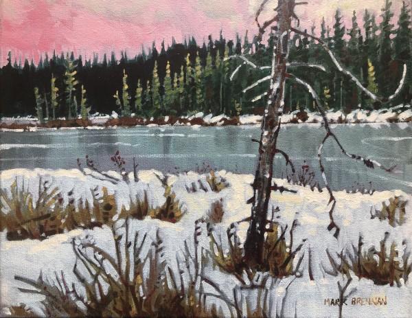 March Landscape II, Piper Lake, Nova Scotia by Mark Brennan