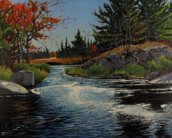 John Pictou Carry, Sporting Lake Stream, Tobeatic Wilderness, Nova Scotia by Mark Brennan