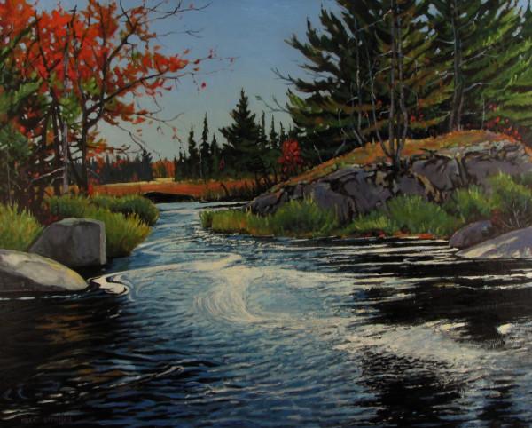 John Pictou Carry, Sporting Lake Stream, Tobeatic Wilderness, Nova Scotia by Mark Brennan