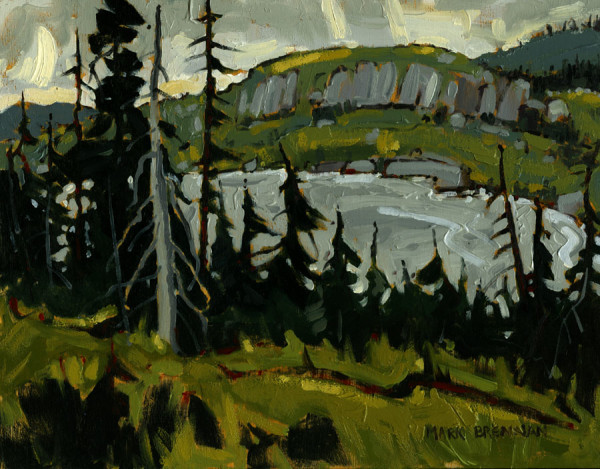 Morning, Gros Morne Interior, Sketch by Mark Brennan