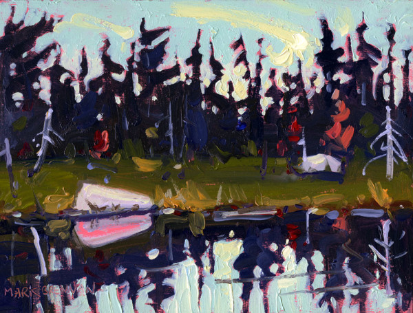 View From The Canoe, Sporting Lake Stream by Mark Brennan