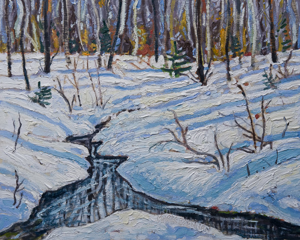 Winter Stream, Gully Lake Wilderness by Mark Brennan