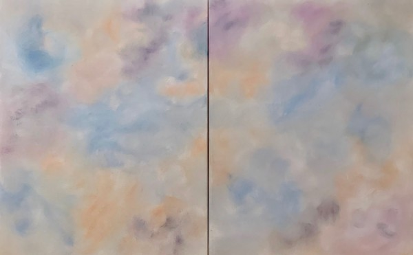 Where You Went (Diptych) by Dina Alexis Cline