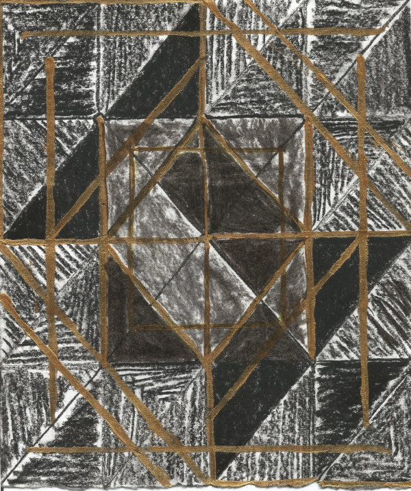 Untitled (Black and Gold) by Nsenga Knight