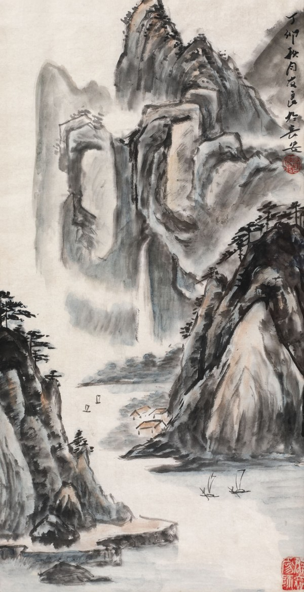 Waterfall near Xi'an by Liang You