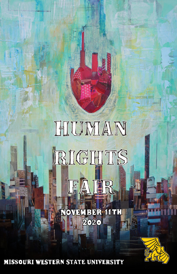 Heart of the City - human rights fair poster by Lydia Burris