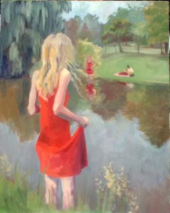 The Girl in the Red Dress by Lydia Burris