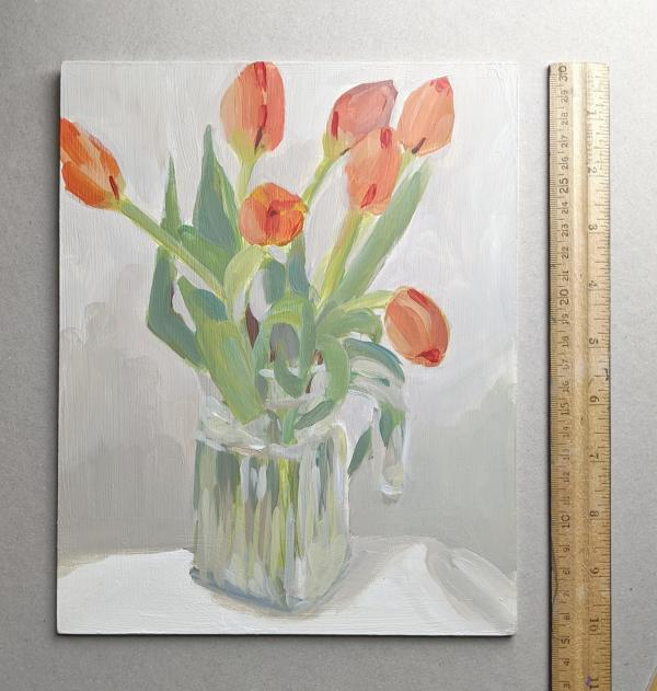 Tulips in a Pitcher by Carrie Arnold