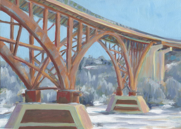 High Bridge in Winter by Carrie Arnold