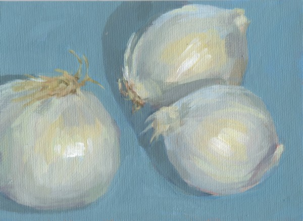 Three White Onions by Carrie Arnold