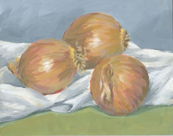 Three Onions by Carrie Arnold