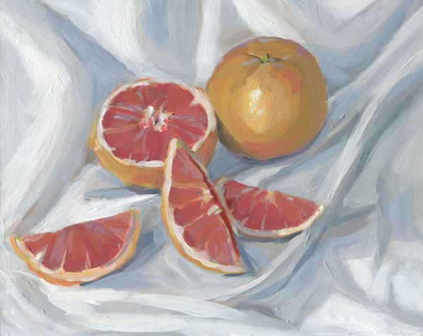 Sliced Grapefruit by Carrie Arnold