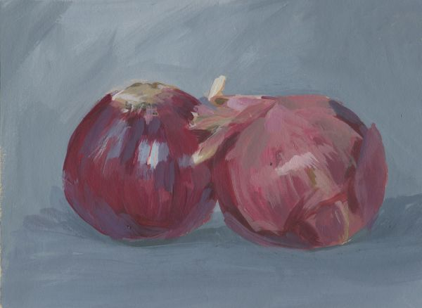 Two Red Onions by Carrie Arnold
