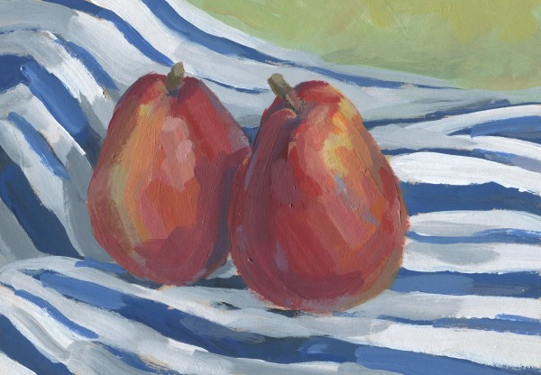 Two Red Pears by Carrie Arnold