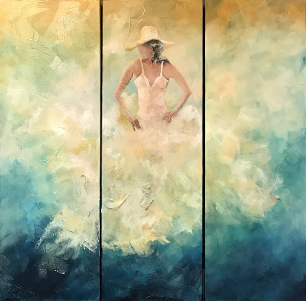 Renewal In The Silence, Triptych by Jacinthe Lacroix