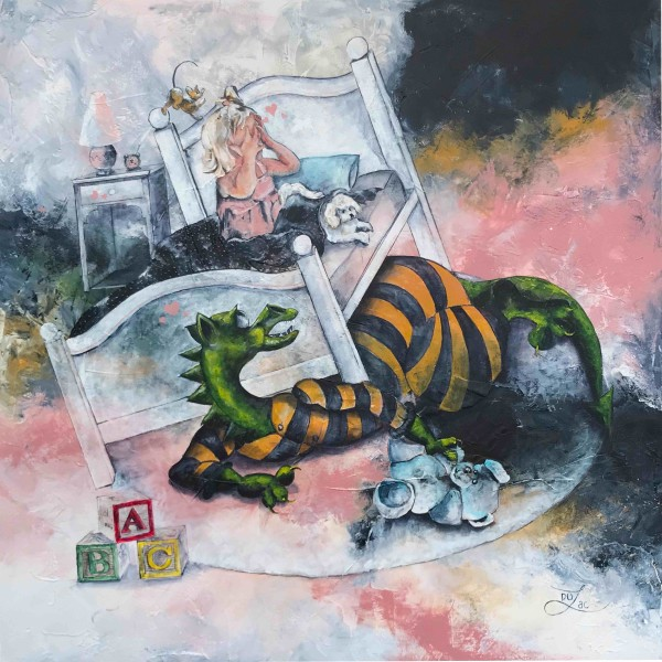 Mommy I think There's Is Monster Under The Bed-Giclée by Jacinthe Lacroix