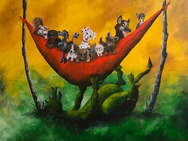 Puppy Day Care-Giclée by Jacinthe Lacroix