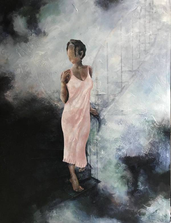 Woman In Pink by Jacinthe Lacroix