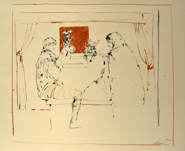 Two Puppeteers by Reginald Pollack