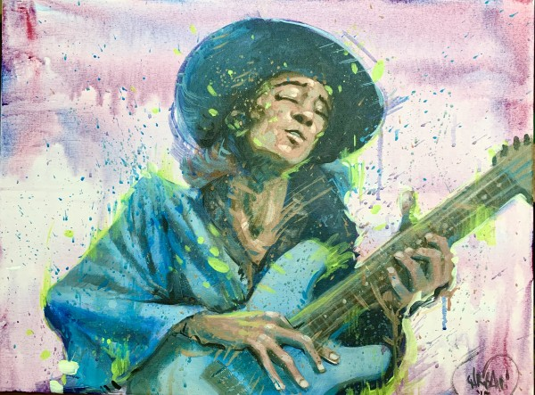 Stevie Ray Vaughn by David Garibaldi