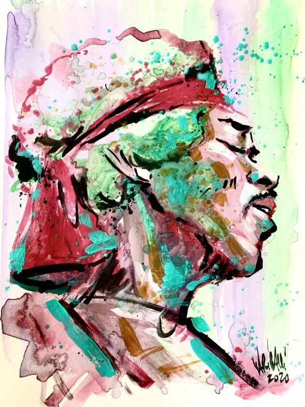 Jimi Hendrix Study by David Garibaldi