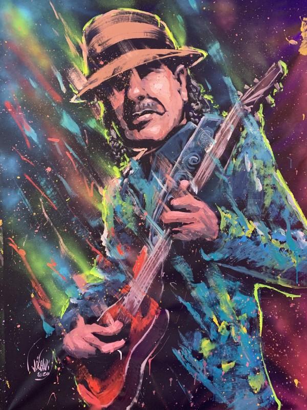 Carlos Santana by David Garibaldi