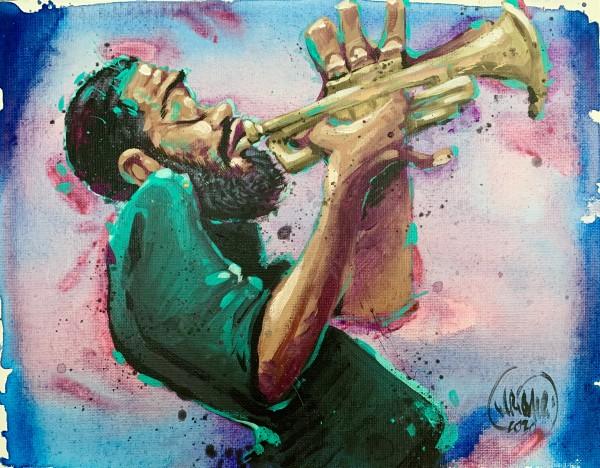 Trumpet Dream Wash by David Garibaldi