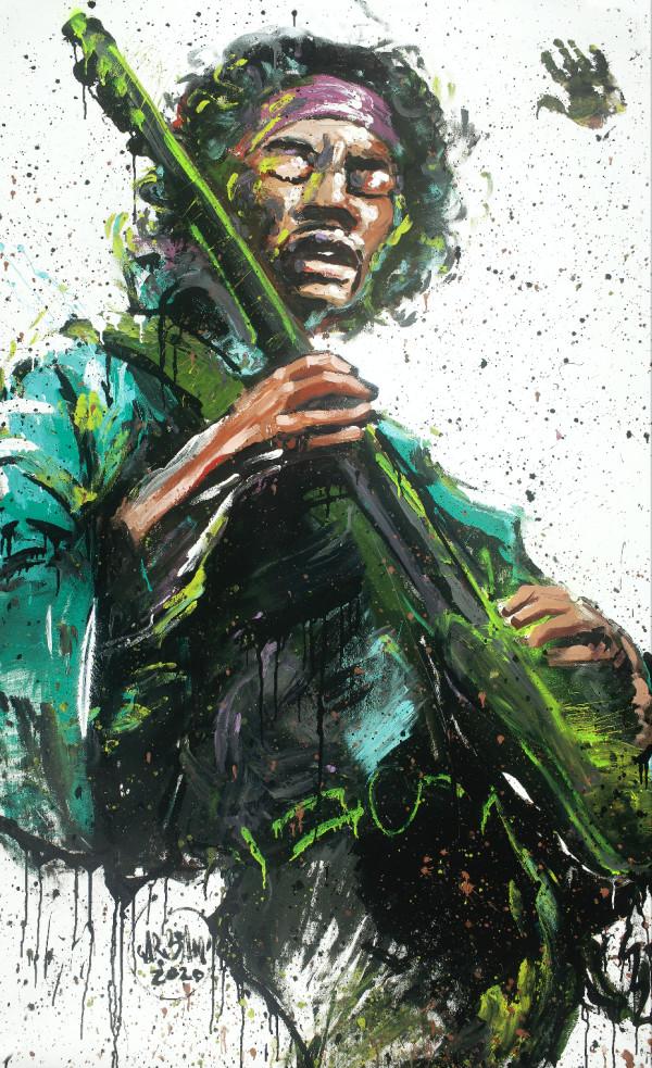 Jimi Hendrix by David Garibaldi