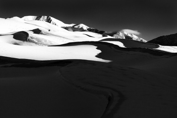 Dunes In Snow by Rick Perkins
