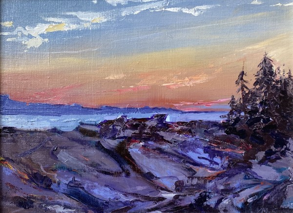 Sunset at Schoodic Point by Judy McSween