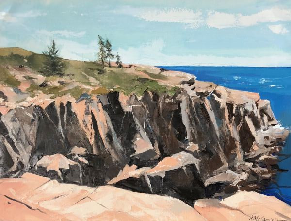 Little Moose Island Cliffs by Judy McSween