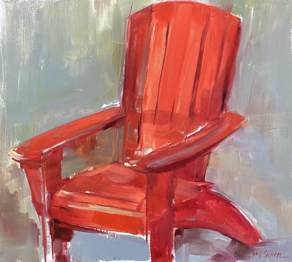 Red Adirondak by Judy McSween