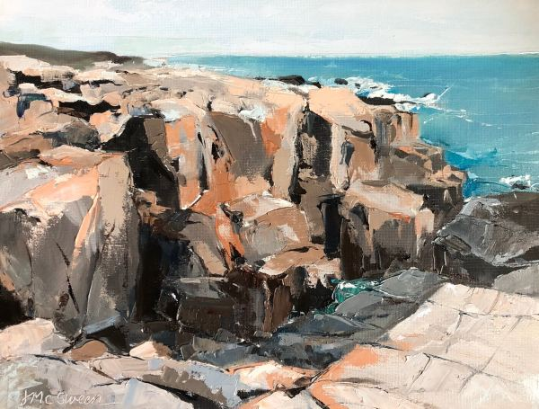 Schoodic Point Rocks Acadia NP by Judy McSween