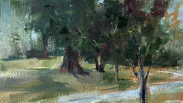 Street Corner, Porch View by Judy McSween