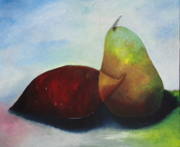 1002 A Pear and A Yam Overlapping Big  by Judy Gittelsohn