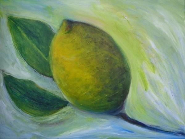 1006 Lemon Two Leaves by Judy Gittelsohn
