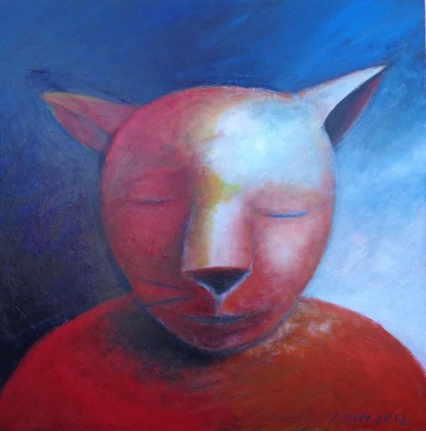 1078 Red Cat  by Judy Gittelsohn