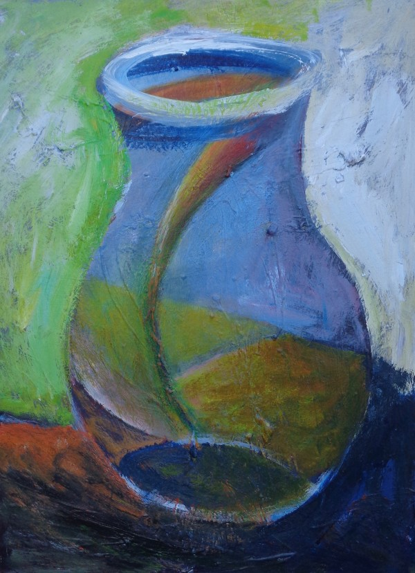 1106 Orange Landscape in Bottle by Judy Gittelsohn