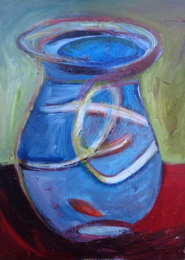 1116 Red Fish Potion in Bottle by Judy Gittelsohn
