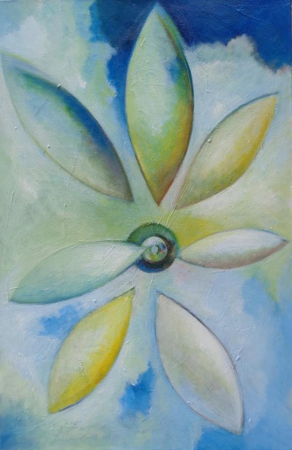 1235 Flower in the Sky by Judy Gittelsohn