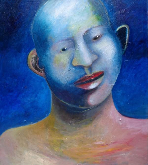 1228 Light Blue Head by Judy Gittelsohn