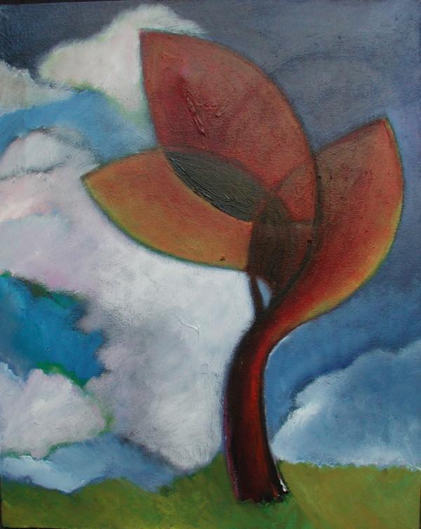 1239 Orange Plant Outside by Judy Gittelsohn