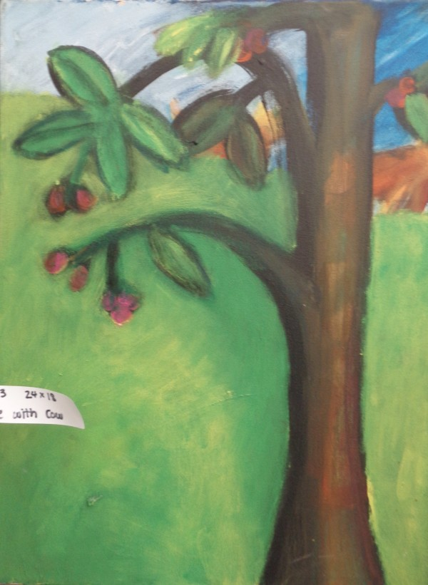 1183 Tree With Cow by Judy Gittelsohn