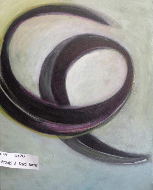 1194 Around a Round Corner Dark and Violet by Judy Gittelsohn