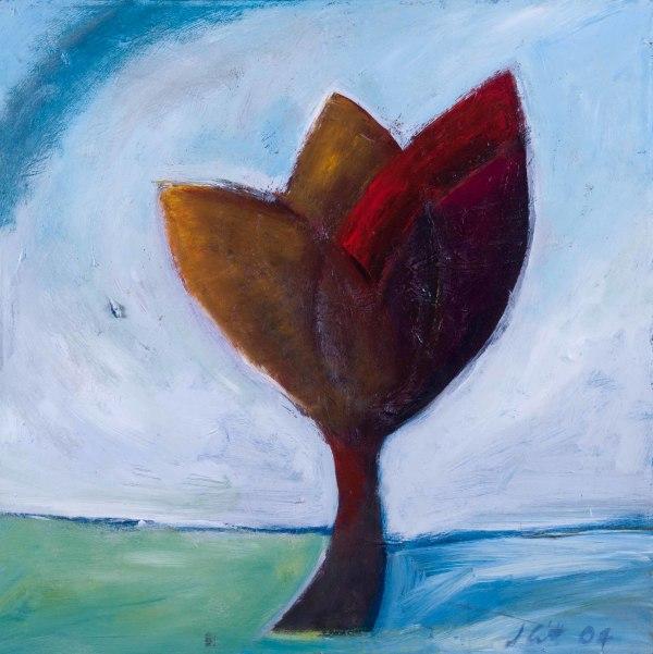 1149 Wild Red Plant by Judy Gittelsohn