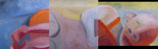 1070  Head, Body, Legs Rest -Triptych by Judy Gittelsohn