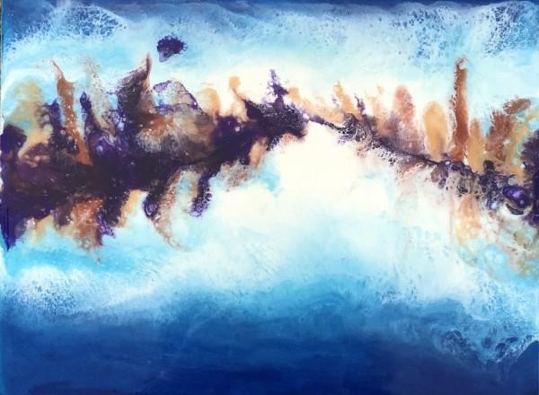 Lake in Resin Study by Stevie J. Dopheide