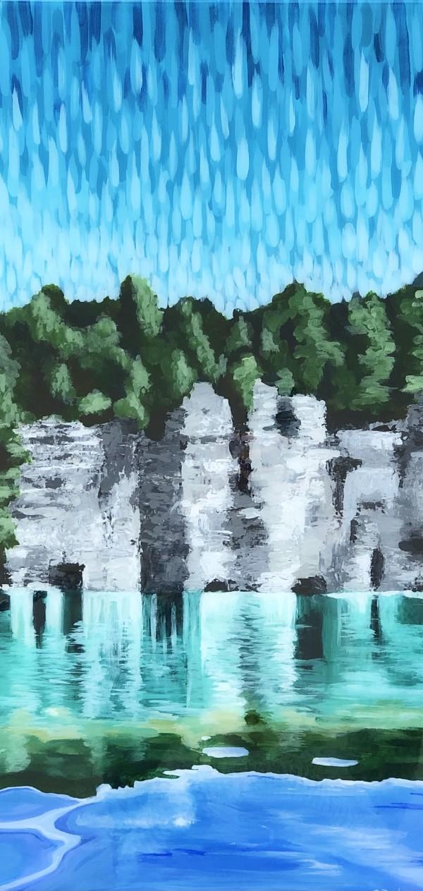 Limestone Reflections by Stevie J. Dopheide