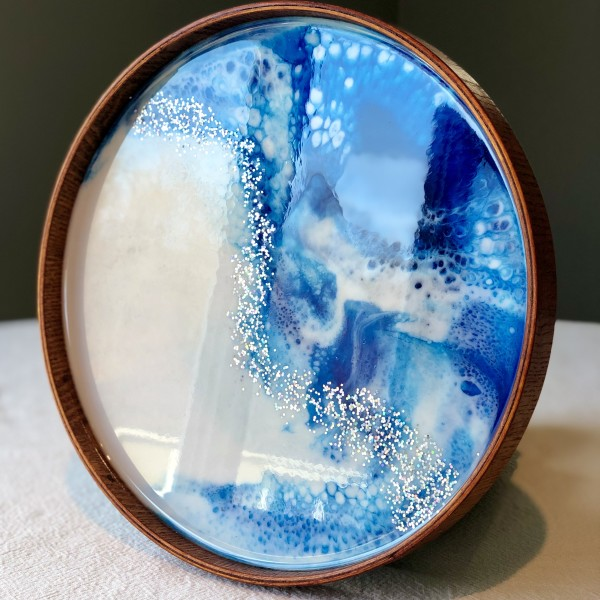 Resin Art Serving Tray by Stephanie Dopheide